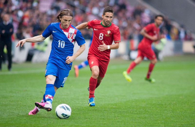 Luka Modric Croatia vs Portugal 10th June 2013